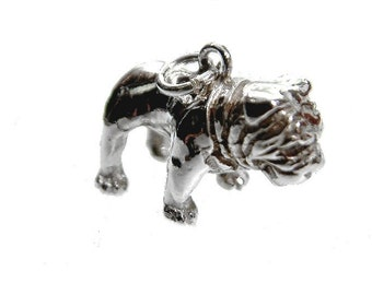 bulldog dog pendant silver 925 english bulldog silver pendant