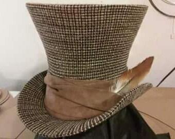 Custom Handmade 9 inch Mad D'Hatter Top Hat