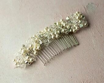 Crystal Pearl Bridal Hair Comb