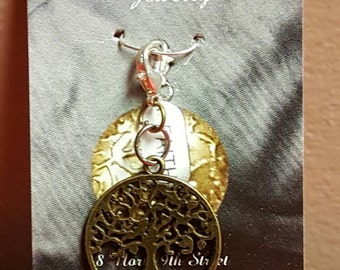 Tree of Life with Aspen leaf pendant
