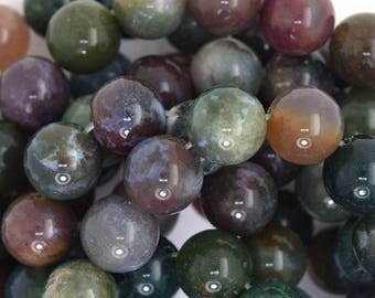 """12mm Indian agate round beads 15.5"""" strand 35808"""
