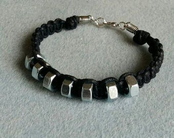 Hex nut corded bracelet