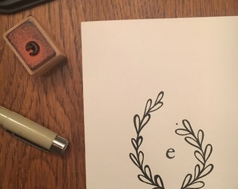 Stamp Letter Wreath