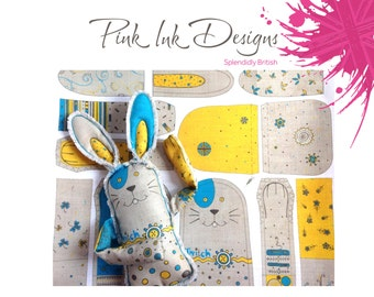 Bunny rabbit sewing kit pattern.