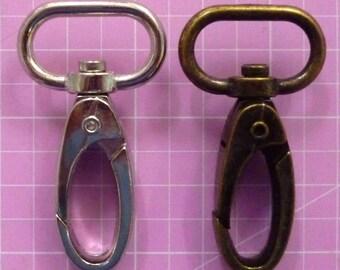 Swivel Hook 3/4 in / 19mm in Nickel or Antique Brass