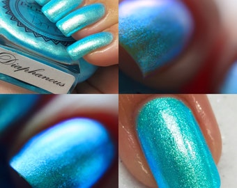 "P•O•P Polish ""Diaphanous"" Nail Polish Quick Dry Ethereal Winter Iridescent DuoChrome Mirror MultiChrome"