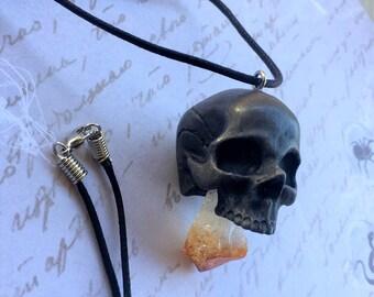 Embedded Citrine crystal pendant