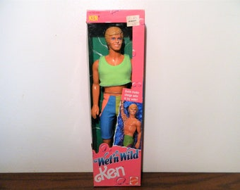 1989 Mattel Wet 'N Wild Ken Doll New In Box