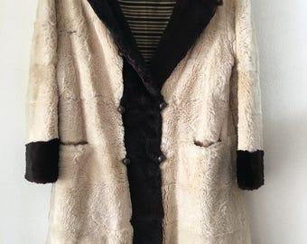 Vintage fur coat , medium size .