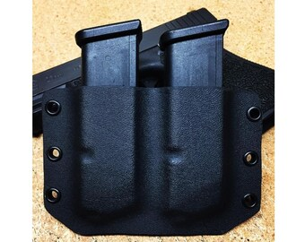 Kydex Glock double mag carrier