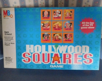 Vintage 1986 Hollywood Square Game by Milton Bradley