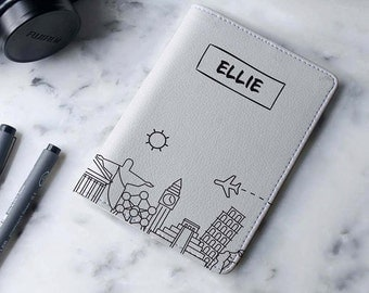 Europe Sky - Personalized Passport Cover/Holder - Travel Passport Cover - High Quality Handmade Leather | TG-PPC-447