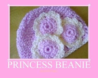 Princess Beanie 0-3 months