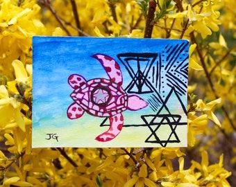 Turtle handprinted card