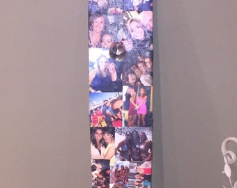 Personalized Photo Collage Shot Ski