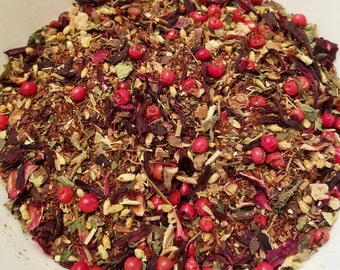 Anastasia - Red Rooibos, Girl Power, Disney Inspired, Pink Peppercorns, Hibiscus, Rhodiola, Carob, Lemon Balm