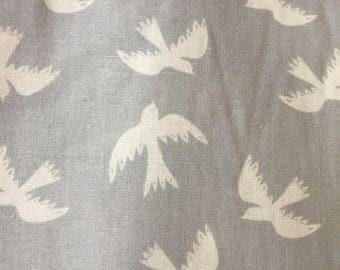 Gray with Birds Fabric, Bird Fabric