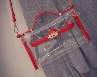 Cross Body Clear Purse/Stadium Bag