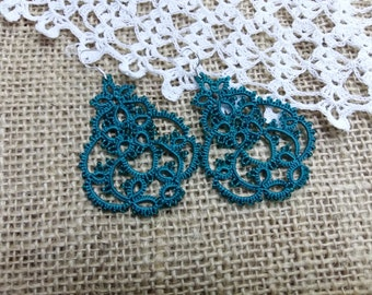 Chandelier Earrings  lace jewelry  bridesmaid earrings lace earrings