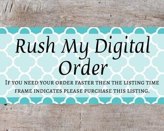 Lanier Printables Rush Order, Rush My Order, Rush Order