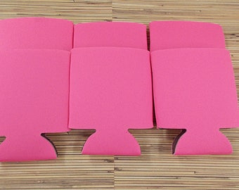 Hot Pink, Blank can coolies, free shipping