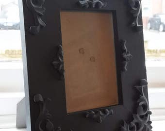 Hand painted ornate photo frame
