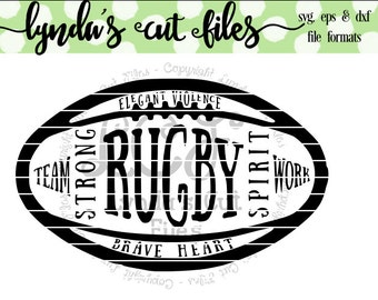 Rugby Ball SVG/DXF/EPS file