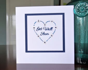 Handmade Greeting Card - Get Well Soon Card