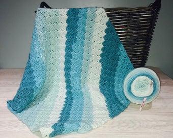 Stroller/Car Seat/Baby Afghan Crochet Blanket