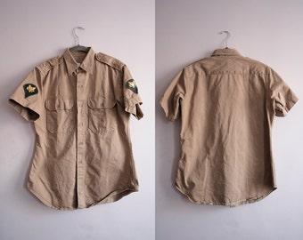 50's Mens Army Uniform Shirt