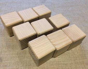 Set of 15 Natural Wooden Blocks, Natural Wood Building Blocks, Wooden Building Blocks, Natural Wooden Blocks