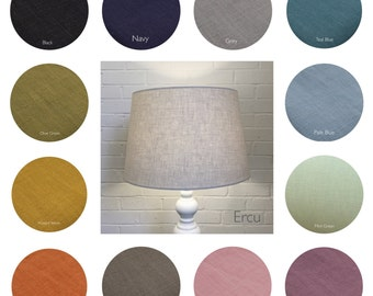 50cm Tapered Linen Fabric Coolie Lampshade Lightshade Various Colours