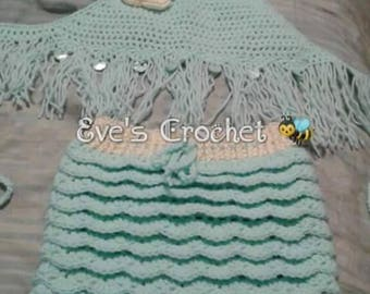 Girl Crochet summer out fit