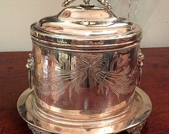 Beautiful Silver Biscuit Box