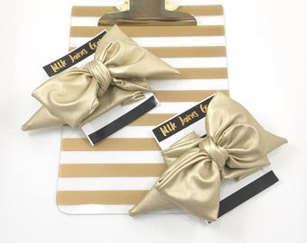 Headwrap, gold, big bow, baby girl headwrap