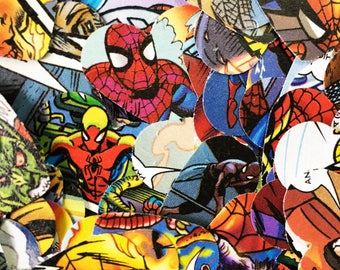 200 Marvel spiderman  confetti hearts , party , wedding , card making , smashbooks , table top confetti