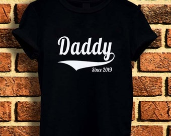 New Daddy 2019 happy father day t shirt tee men