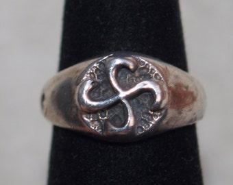Sterling Sun Dial Ring