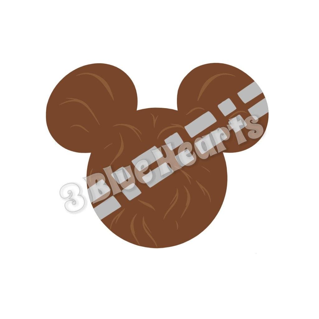 Chewbacca Star Wars Mickey Head Svg Dxf Pdf Studio Star Wars