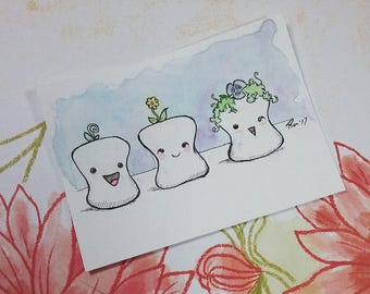 Sprout Marshmallow Trio, ACEO
