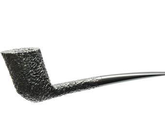 Briar pipe - Dublin rusticated / mouthpiece hand cut