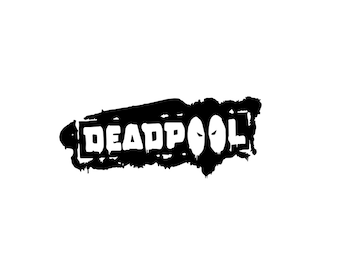 Deadpool Vinyl Decal - Vinyl Decal, Deadpool Decal, Wall Decal, Laptop Decal, Deadpool Sticker