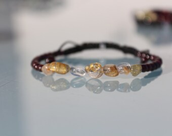 Jewel lithotherapy, bracelet 'Passion and Liberation'