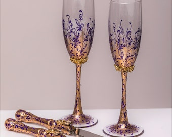 Purple gold wedding | Etsy