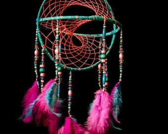 3d dreamcatcher etsy for How to make a double ring dreamcatcher