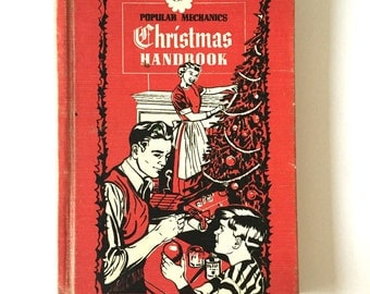 "1952 Popular Mechanics ""Christmas Handbook"" Hardback How To DIY Book Mid Century"