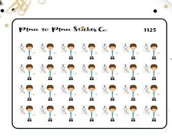 1125~~28 Eye Doctor Appointment Reminder Planner Stickers.