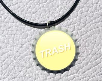 Trash - bottle top charm necklace