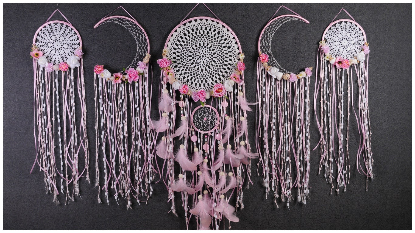 Can Dream Catchers Get Full Set Pink Dreamcatcher Dream Catcher Large Girl Dreamcatcher 9