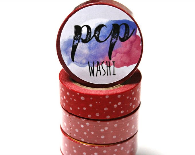 Red and White Polka Dot washi tape - Washi Tape - Red Washi Tape - Paper Tape - Planner Washi Tape - Washi - Decorative Tape - Deco Paper